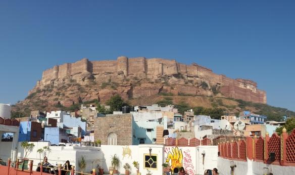 View of Merhangarh Fort from KP Heritage Haveli
