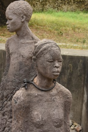 Sculpture at slave market site