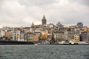 Galata Tower, across the golden horn