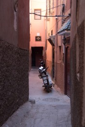 The narrow streets in The Medina