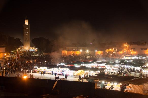 Jemaa el Fna at night