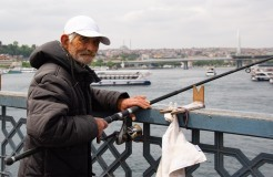 Fishing from the Galata Bridge
